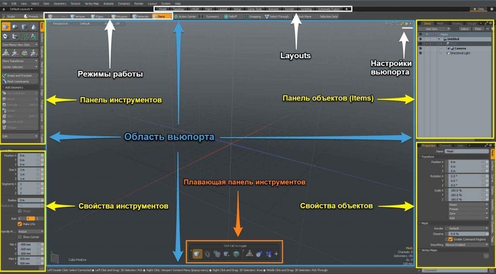 Интерфейс моделироание