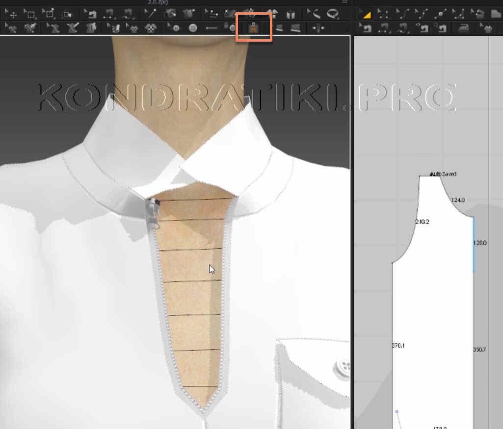 Молния Zipper в Marvelous Designer