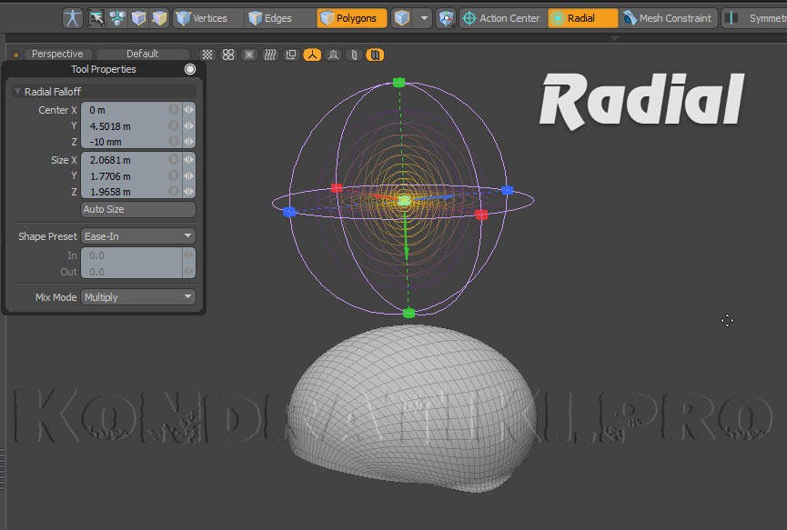 Radial Falloff Modo