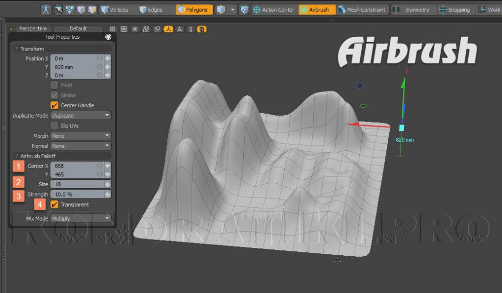 Airbrush Falloff Modo