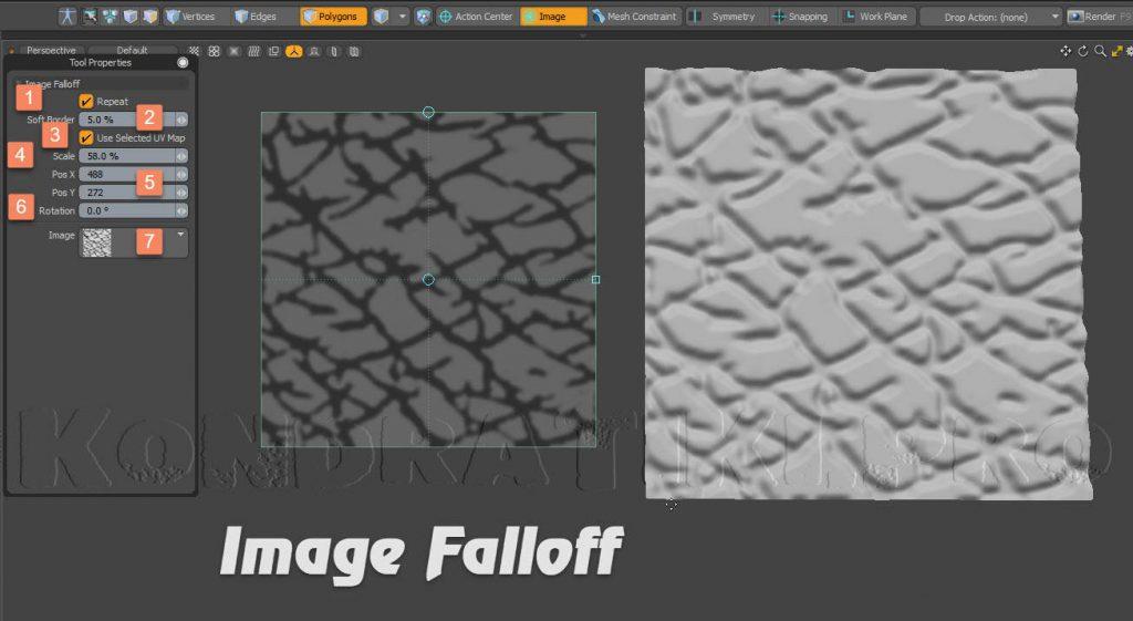 Image Falloff Modo