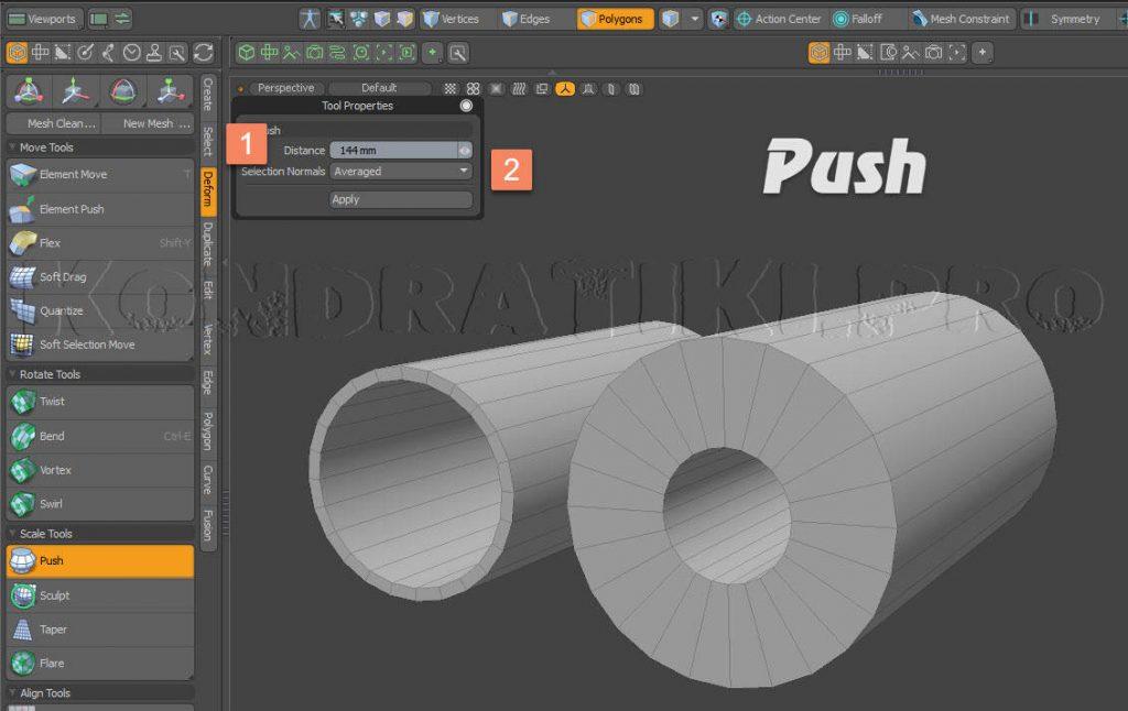 Push Tool Modo