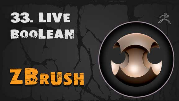 Live Boolean Zbrush